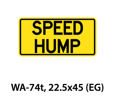 Warning Sign - WA-74t