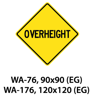 Warning Sign - WA-76 / WA-176
