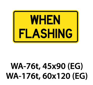 Warning Sign - WA-76t / WA-176t