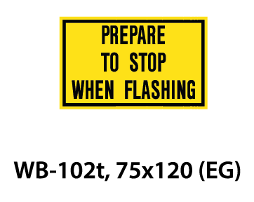 Warning Sign - WB-102t