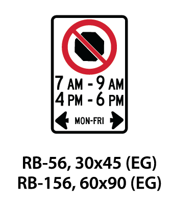 Regulatory Sign - RB-56 / RB-156