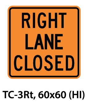 Temporary Conditions Sign - TC-3Rt