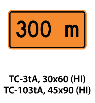 Temporary Conditions Sign - TC-3tA