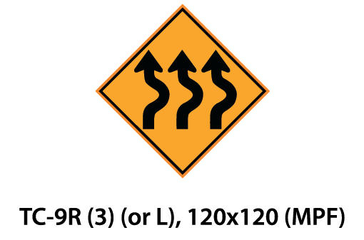 Temporary Conditions Sign - TC-9R (3) (or L)