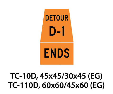 Temporary Conditions Sign - TC-10D / TC-110D