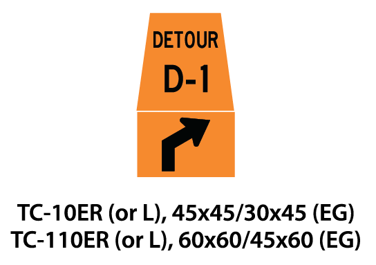 Temporary Conditions Sign - TC-10ER (or L) / TC-110ER (or L)
