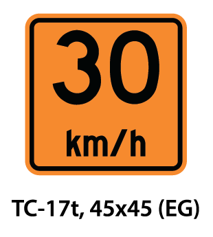 Temporary Conditions Sign - TC-17t