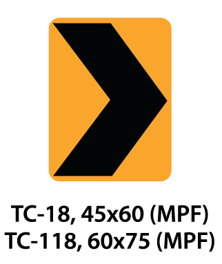 Temporary Conditions Sign - TC-18 / TC-118