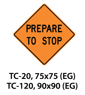 Temporary Conditions Sign - TC-20 / TC-120