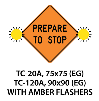 Temporary Conditions Sign - TC-20A / TC-120A (with amber flashers)
