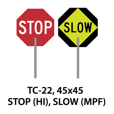 Temporary Conditions Sign - TC-22 (Stop/Slow)