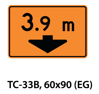 Temporary Conditions Sign - TC-33B