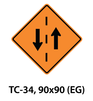 Temporary Conditions Sign - TC-34