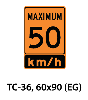 Temporary Conditions Sign - TC-36
