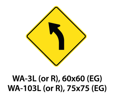 Warning Sign - WA-3L (or R) / WA-103L (or R)