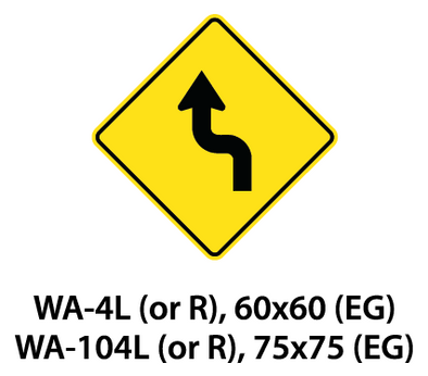 Warning Sign - WA-4L (or R) / WA-104L (or R)