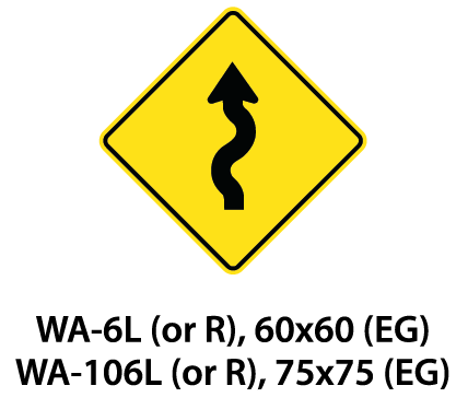 Warning Sign - WA-6L (or R) / WA-106L (or R)