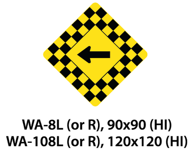 Warning Sign - WA-8L (or R) / WA-108L (or R)