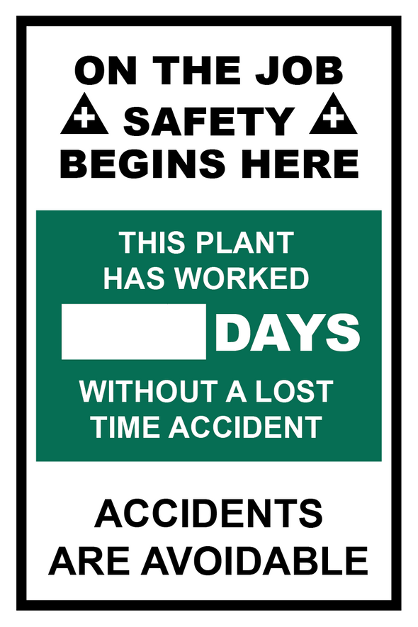 "(12"" X 18"") Aluminum Safety Sign"