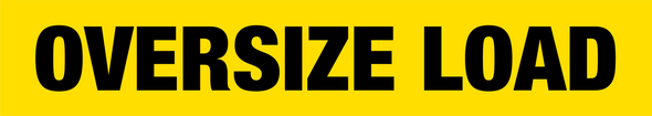 Oversized Load Banner - Reflective
