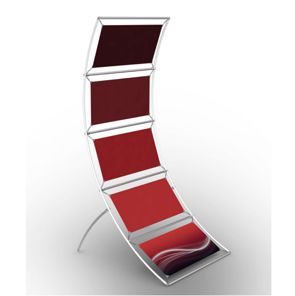 Curved Poster Display Stand