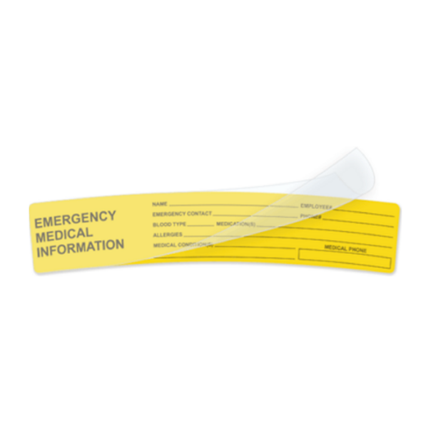 Hardhat Emergency Medical Information Decal