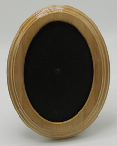 Light Golden Oak Finish Solid Wood Oval Frame
