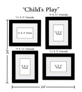 """Child's Play"" 4-Frame Family Portrait Gallery with 1.5"" Designer Mat"