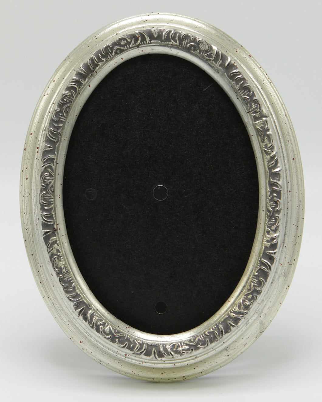 Italian Signature Silver Solid Wood Oval Frame
