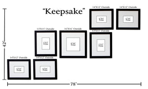"""Keepsake"" 7-Frame Family Portrait Gallery with 3"" Designer Mat"