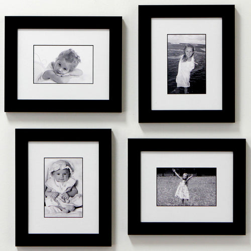 Childs play 4 frame family portrait gallery with 1 5 designer mat