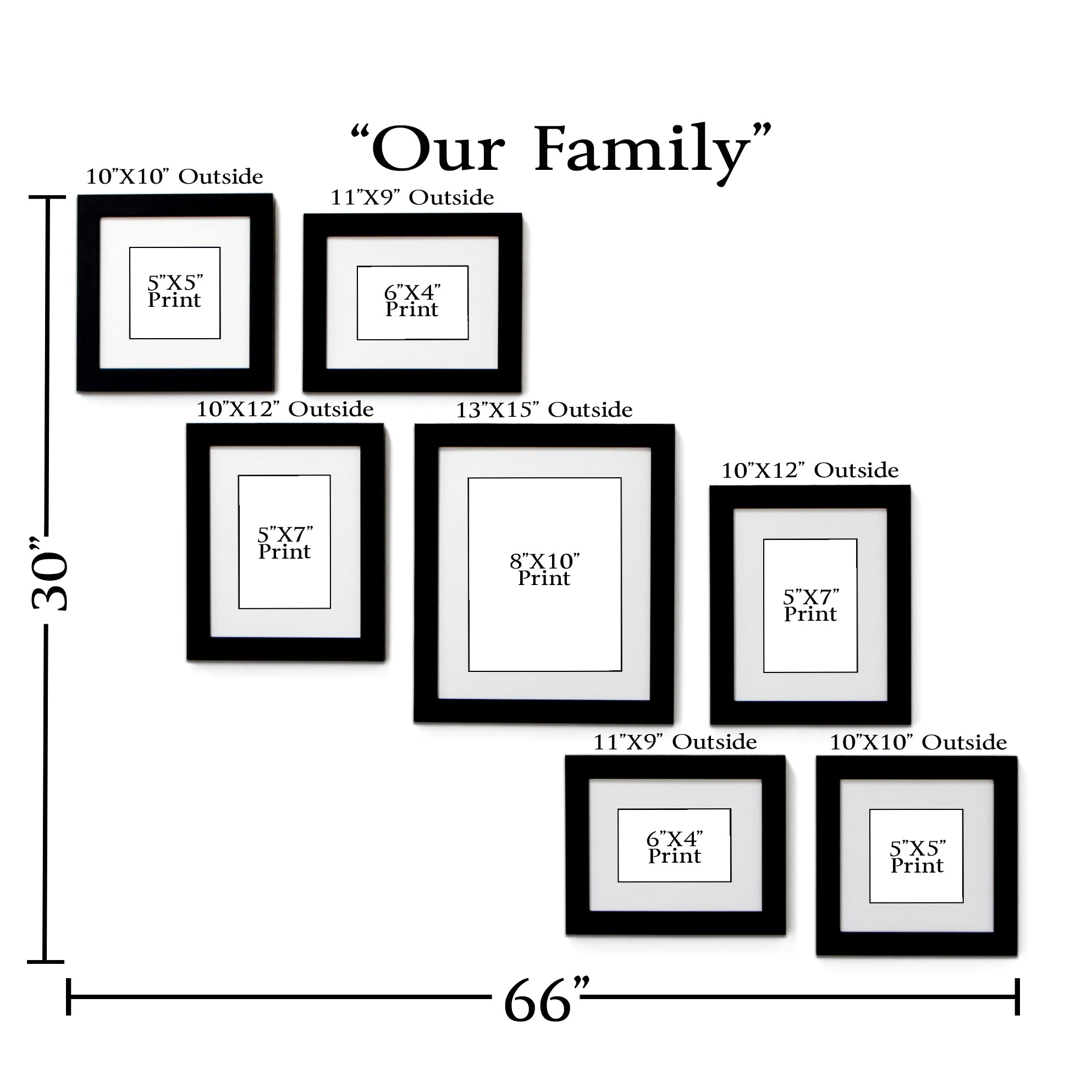 Quot Our Family Quot 7 Frame Family Portrait Gallery With 1 5