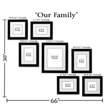 """Our Family"" 7-Frame Family Portrait Gallery with 1.5"" Designer Mat"