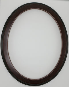 Traditional Black Cherry Solid Wood Oval Frames