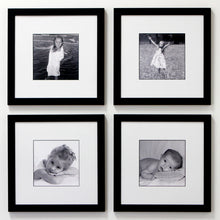 4 frame black and white collection for 8x8 prints