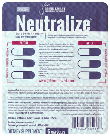 Neutralize Totally Free Sample