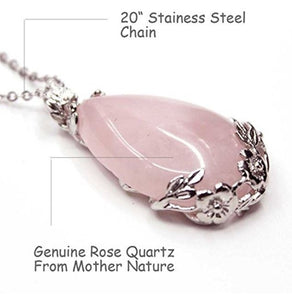 Rose Quartz Natural Stone Pendant Necklace...  The fair and lovely Rose Quartz has a gentle pink essence, it is a stone of the heart and of Unconditional Love. It carries a soft feminine energy of compassion and peace, tenderness and healing, nourishment and comfort.