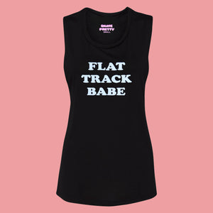 Flat Track Babe Muscle Tank