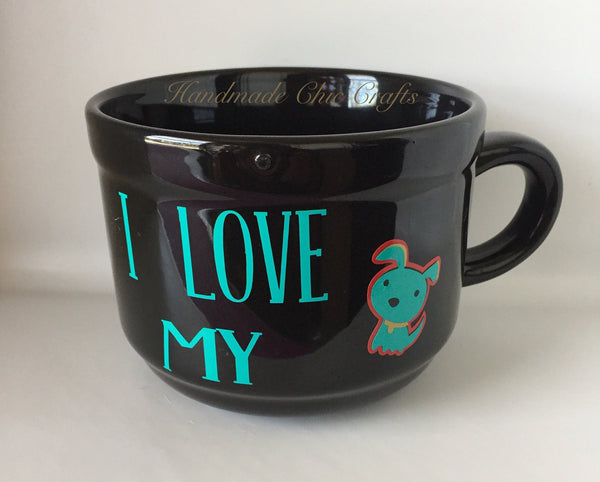 I Love My dog Coffee Mug,