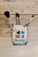 Personalized makeup brush holder