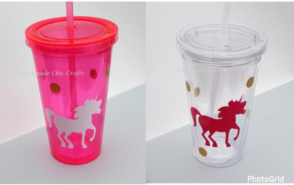 Unicorn tumbler, party cup, personalized tumbler, decorated cup,water bottle,cups, tumbler, wedding favors,unicorn party decor