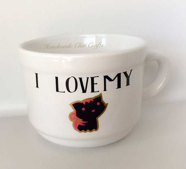 I Love My Cat / Dog Coffee Mug