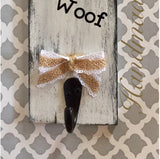 Wood dog leash holder board