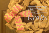 Personalized burlap wreath