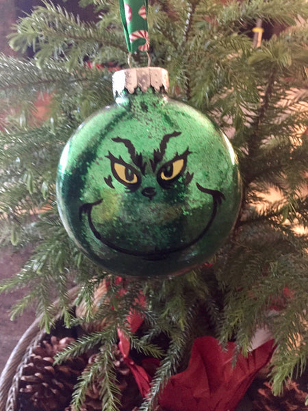 Grinch ornament personalized