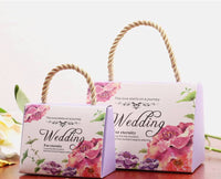 Wedding favors, floral bags, tiffany decor, wedding decor, pink bags, wedding gifts, bridal, carboard bags, spring decor, chic decor,