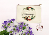 Boho Canvas cosmetic bags