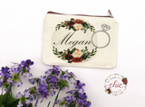 Personalized Canvas cosmetic bags