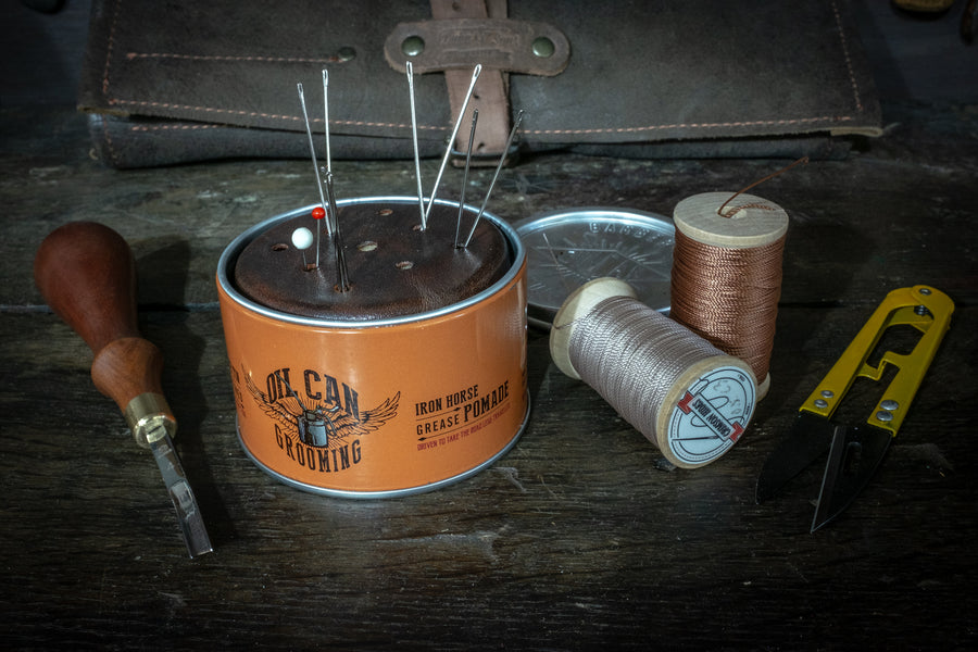 Making an Oilcan Grease Pomade tin pincushion
