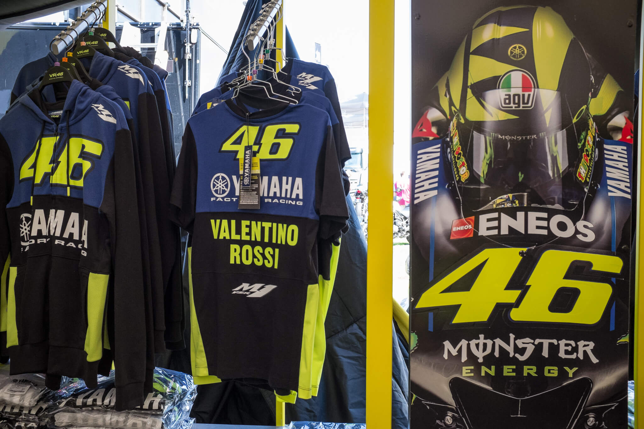 The most popular merchandise: nr. 46 Valentino Rossi